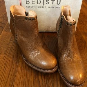 Women's BedStu Yell Tan Lux Booties Size 7.5